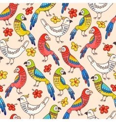 Seamless parrots vector image