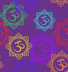 Seamless pattern of om signs vector