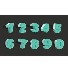 Set cartoon numbers 3d vector