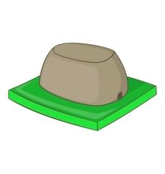 Sigiriya rock icon cartoon style vector