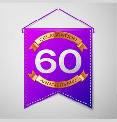 Sixty years anniversary celebration design vector