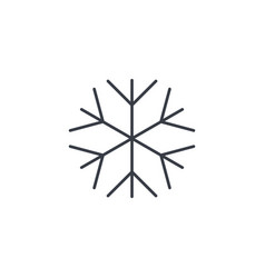 snowflake frost winter snow thin line icon vector image vector image