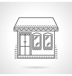 Store flat line icon vector image