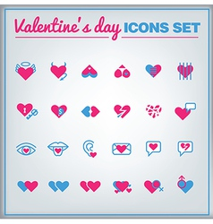 stValentine icons vector image vector image