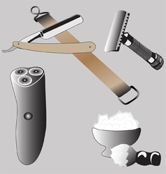 Various Accessories Shaving vector image vector image