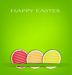 Easter card with green background vector