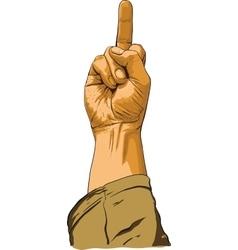hand showing no decent gesture vector image