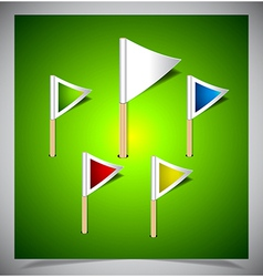 Set of multicolored flag pins vector