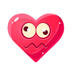 Dizzy emoji pink heart emotional facial vector