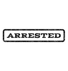 Arrested watermark stamp vector