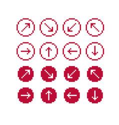 set of retro cursor signs made in pixel art vector image