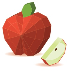 Paper apple vector