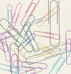 Paperclip on paper vector image
