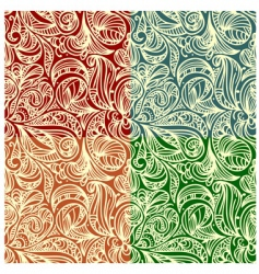 abstract floral patterns vector image