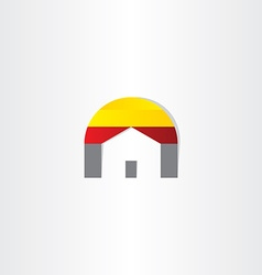 Home real estate business icon vector