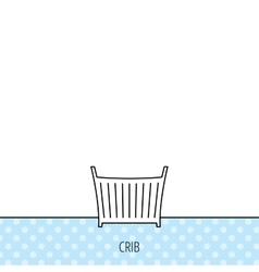 Baby crib bed icon cradle or cot sign vector