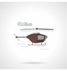Flat color copter icon vector