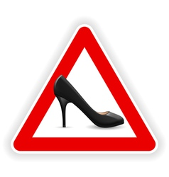 Sign of womens shoes vector image