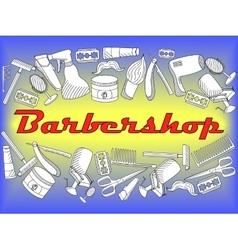 Barbershop coloring book vector image