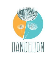 Abstract fluffy dandelion flower logo vector
