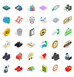 advertising icons set isometric style vector image vector image