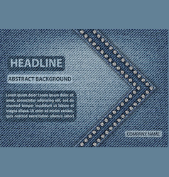 blue jeans cover vector image