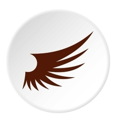 Brown wing icon flat style vector