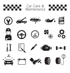 Car Care and Maintenance Objects icons Set vector image vector image