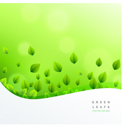Ecofriendly nature green leaf background vector