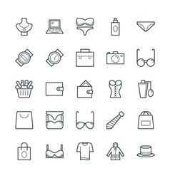 Fashion and clothes cool icons 1 vector