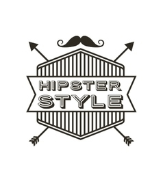 frame hipster style isolated icon vector image
