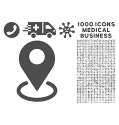 Geo targeting icon with 1000 medical business vector