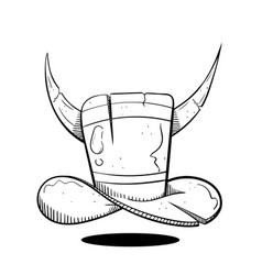 Hat with devil horns vector
