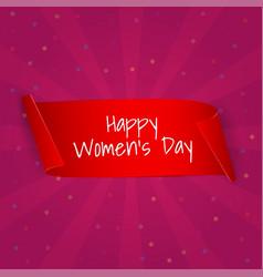 international womens day banner ribbon eight vector image