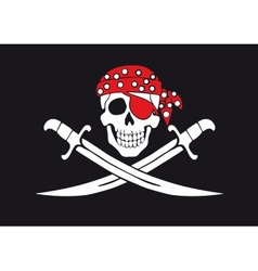 Jolly Roger pirate flag vector image