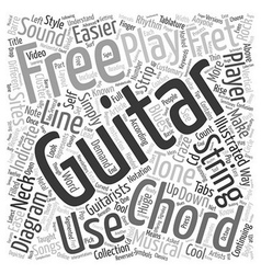 Know your free guitar chords text background vector