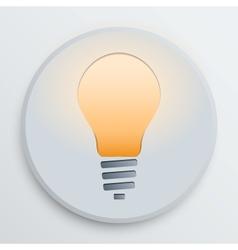 light bulb symbol vector image vector image
