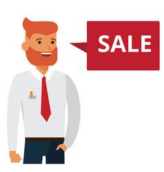 man says sale cartoon flat vector image