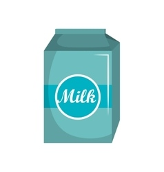 milk box carton isolated icon vector image