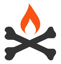 Mortal ignition flat icon vector