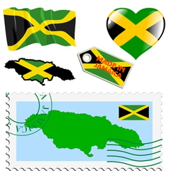 national colours of Jamaica vector image