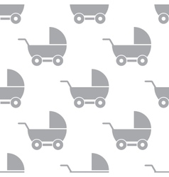 New baby carriage seamless pattern vector