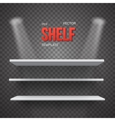 Realistic Shelf With Transparent Lights vector image
