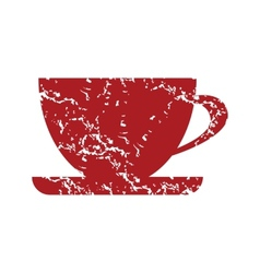 Red grunge cup logo vector