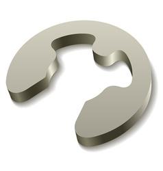Retaining snap ring circlip icon vector