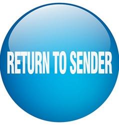 Return to sender blue round gel isolated push vector