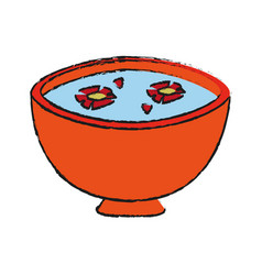 Spa aromatherapy bowl vector