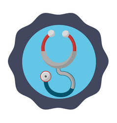 Sticker stethoscope medical tool revision vector