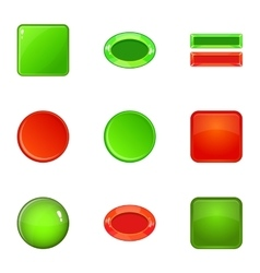 Switch element icons set cartoon style vector