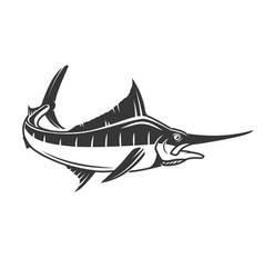 Swordfish icon isolated on white background vector